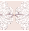 Lace with tape vector image vector image