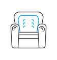 leather chair linear icon concept leather chair vector image vector image