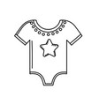 line baby clothes that used to sleep vector image vector image
