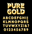 luxury gold type vector image vector image