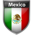 mexico flag on badge design vector image vector image