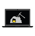 mining bitcoin icon vector image