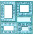 mosaic frames set rect 380 vector image vector image