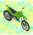 motorcycle isometric cross motorbike vector image vector image