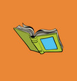 open book reading library and a bookstore vector image