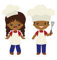 people of color cookout grill cooks boy vector image