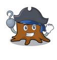 pirate tree stump character cartoon vector image vector image