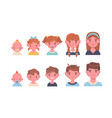 portrait a children at different ages vector image