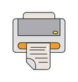 printer machine technology with business document vector image vector image