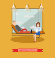 psychotherapist and patient in vector image