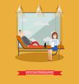 psychotherapist and patient vector image vector image