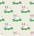 rabbit and carrot hare happy bunny seamless vector image vector image