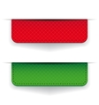 Red and green ribbon set vector image vector image