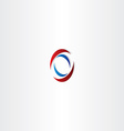 red blue logo letter o symbol vector image vector image