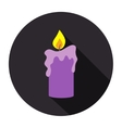 Religious big candle vector image vector image