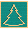 Retro wooden Christmas tree vector image
