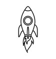 rocket launching startup isolated image vector image