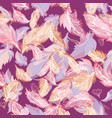 romantic feather pattern vector image vector image