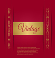 Royal vintage on a burgundy background vector image vector image