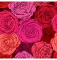 Seamless Floral Rose Wallpaper vector image