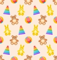 Seamless Pattern with Colorful Children Toys vector image vector image