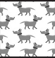 seamless pattern with repeating dog on white vector image