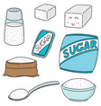 set of sugar vector image
