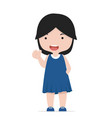 small girl thumbs up character vector image