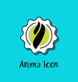 smoke steam aroma inside star badge icon vector image