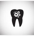 stomatology on white background vector image vector image