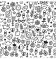 summer doodles pattern vector image vector image