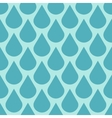 Teal water drops seamless background vector image vector image
