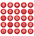 vintage badges and labels icons set vetor red vector image