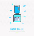 water cooler thin line icon vector image