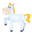 White mad horse vector image vector image