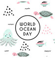 world ocean day element of image furnished by vector image vector image
