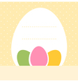 Yellow blank dotted easter background with eggs vector image