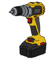 Yellow cordless screwdriver