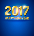 Happy New Year 2017 greetings card vector image