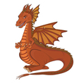 Smiling cartoon dragon vector image