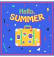 Hello summer Summer background in style of 80s vector image