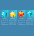 gemstones banner collection on vector image