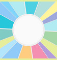 abstract colorful circle background clean center vector image