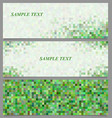 Abstract square mosaic banner design template set vector image vector image