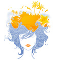 Abstract tropical woman vector image vector image