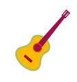 acoustic guitar flat vector image vector image