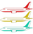 aeroplanes side view vector image