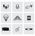 Airplane icon set vector image vector image