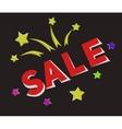 Banner sale in retro-cartoon style vector image vector image