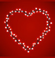 beaytiful bright heart vector image